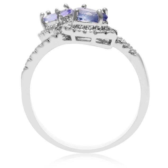 Tanzanite and Diamond Wrap Ring