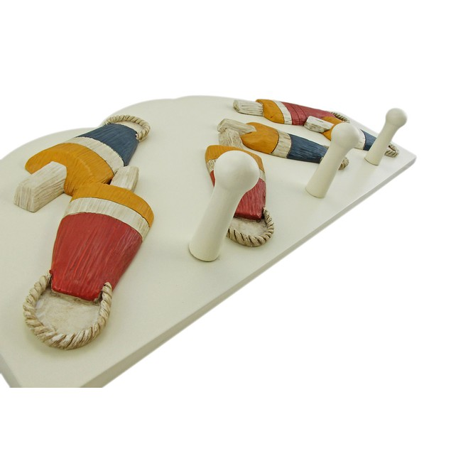 3 Hook Nautical Float Theme Wall Mounted Clothes Decorative Wall Hooks
