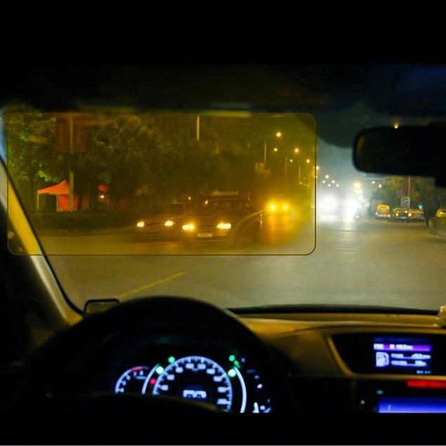 Zone Tech Day and Night Car Adjustable Anti Glare Sun Headlight Tint Visor