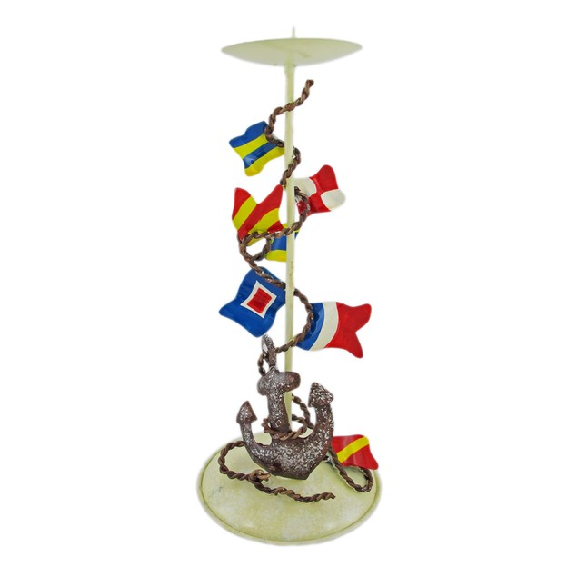 Metal Nautical Signal Flag Candle Holder Hand Votive Holders