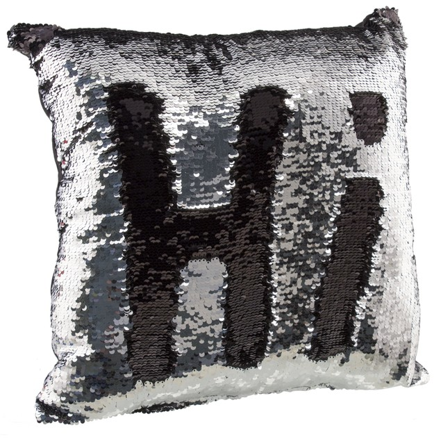 """2-Pack Amy Miller 17"""" Sequin Mermaid Pillows"""
