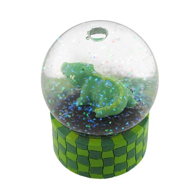 Children`S Alligator Glitter Water Globe Snow Globes