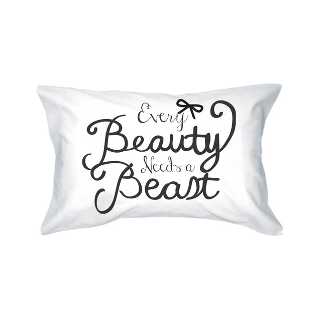 Every Beauty Needs a Beast Matching Pillowcase for Couples