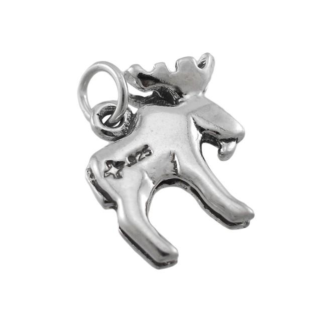Sterling Silver 3D Moose Charm / Pendant Pendants