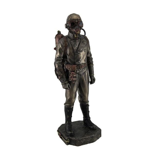Steampunk Aeronaut Metallic Antique Bronze Finish Statues