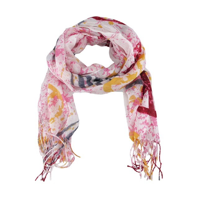 Pink / Red / Gray 70 Inch X 24 Inch American Flag Womens Fashion Scarves