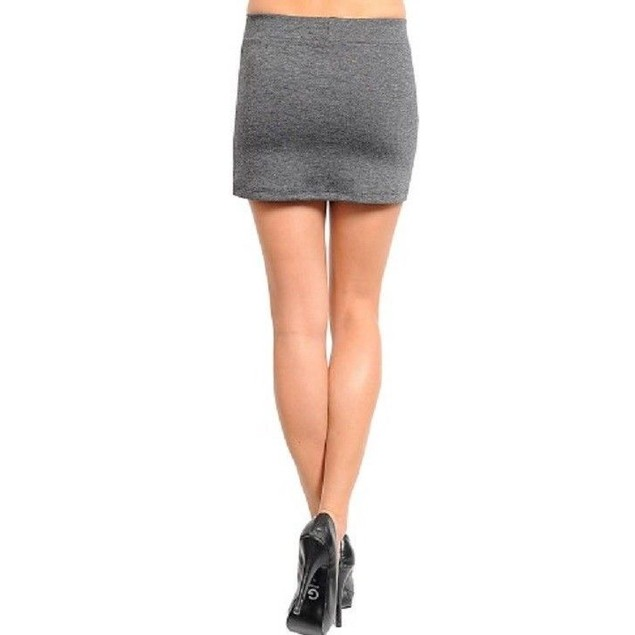 Juniors Fashion Mini-Skirt Gray and Gold New