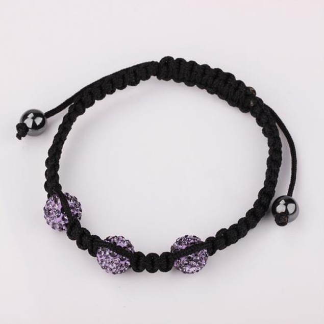 Austrian Crystal Style Bracelet -Lavender