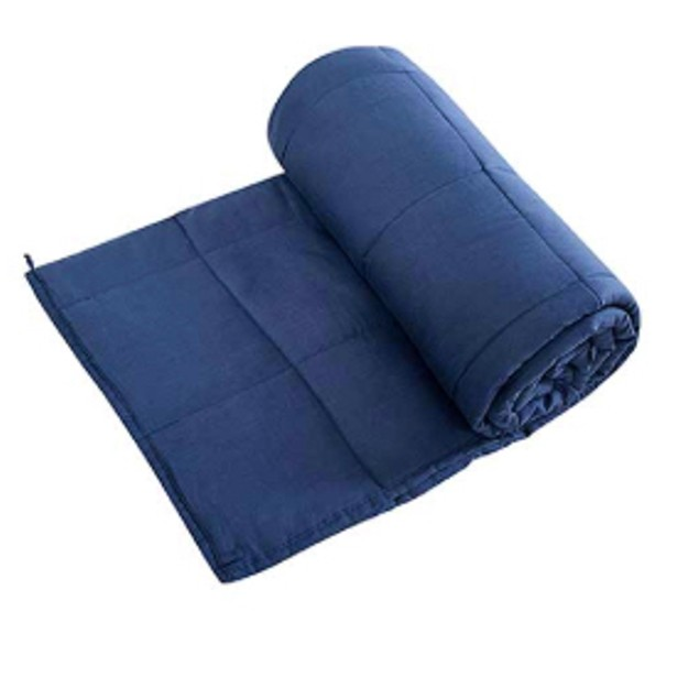 """100% Cotton Weighted Blanket 48"""" x 72"""" (15 & 20 lbs)"""