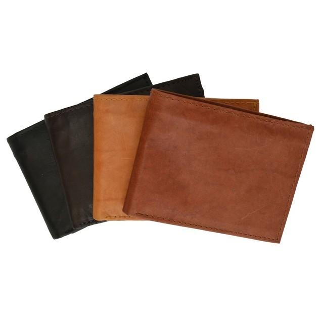 """Genuine Leather Bi-fold 9"""" x 3.5"""" Flip Wallet"""