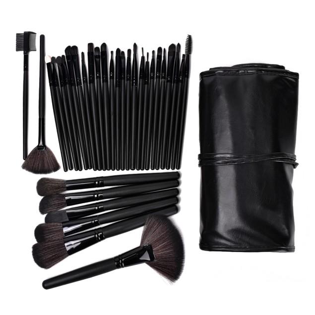 Beauty Bon® Professional 32 Pcs Makeup Brush Set Black Kit with Pouch