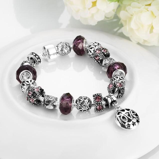 Purple Fusion Designer Inspired Bracelet