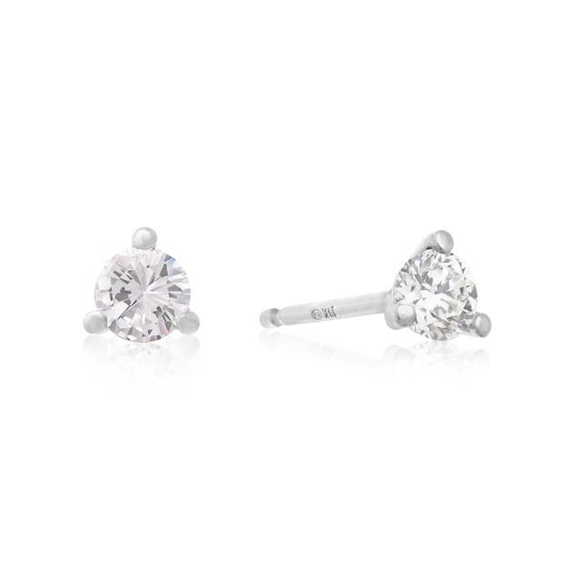 Martini Diamond Stud Earrings 1/3cttw