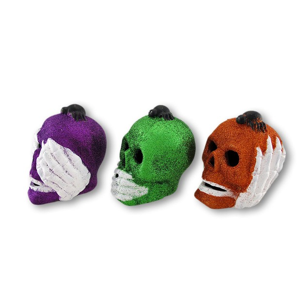 Color Changing Led Hear, Speak, See No Evil Statues