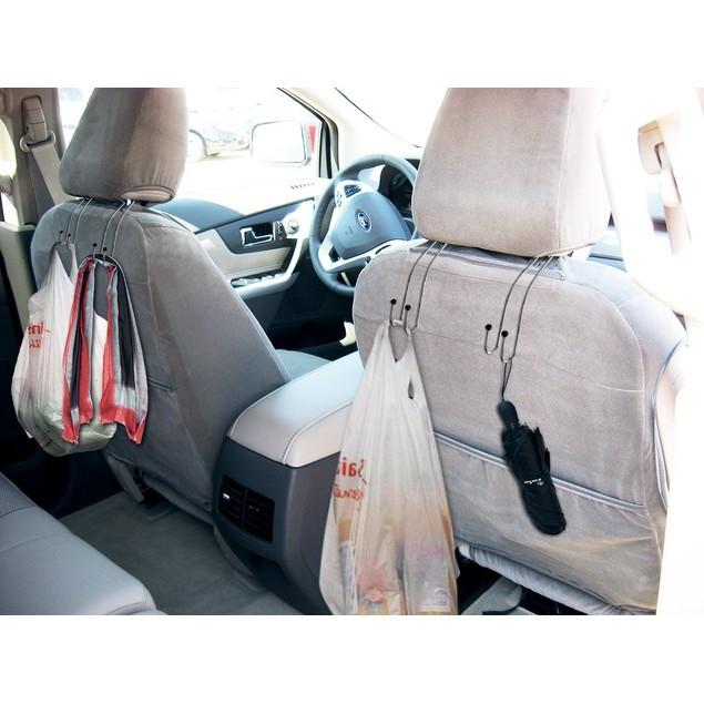 Zone Tech 4x Metal Headrest Car Hooks  Travel Vehicle Bag and Grocery Hooks