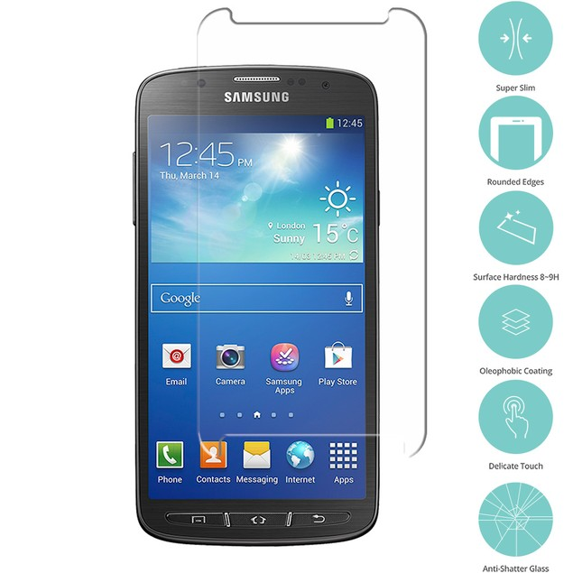 Samsung Galaxy S4 Active i537 Tempered Glass Film Screen Protector Clear