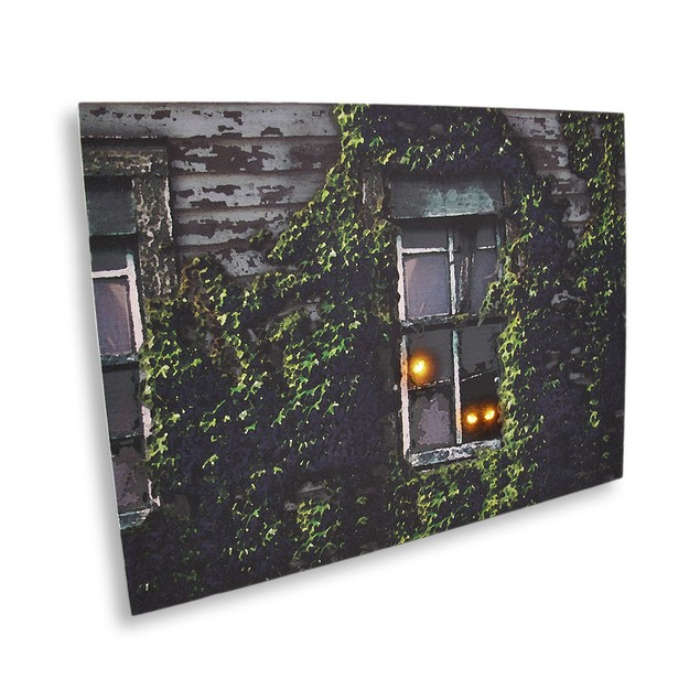 Lighted Spooky Eyes Led Canvas Wall Hanging Prints
