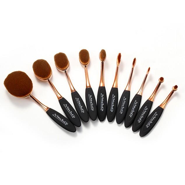 10 Piece Oval Brush Set