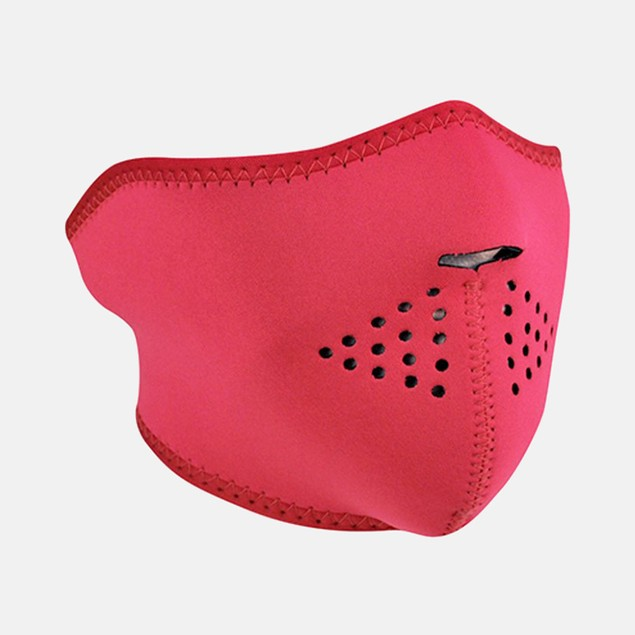 Neoprene 1/2 Face Mask - Hot Pink Reverses to Teal