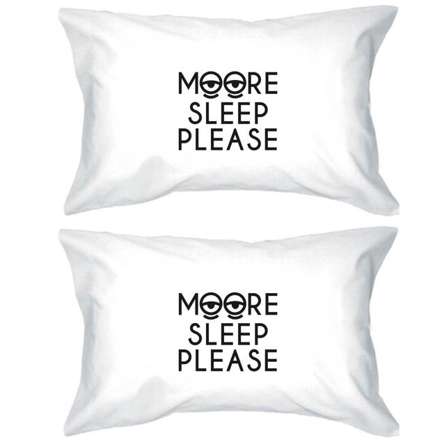 Moore Sleep Funny Pillowcases