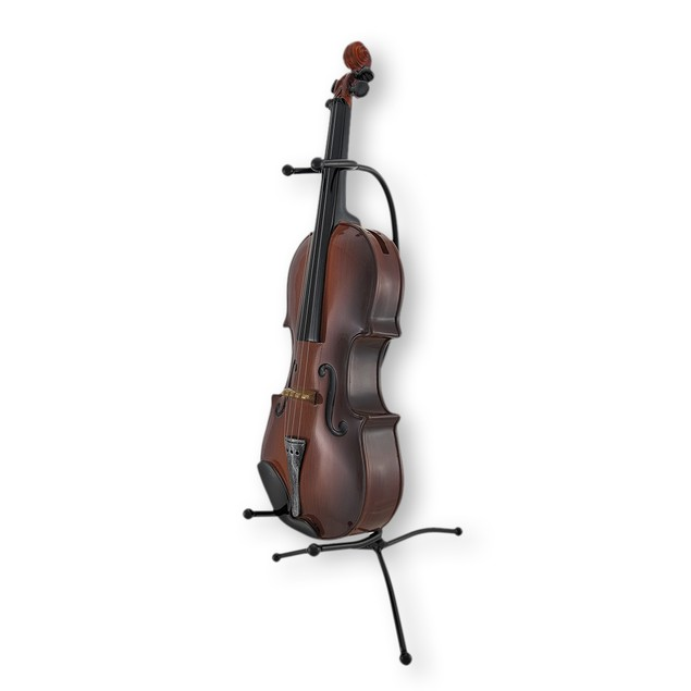 Classical Violin Statue Coin Bank With Stand Toy Banks