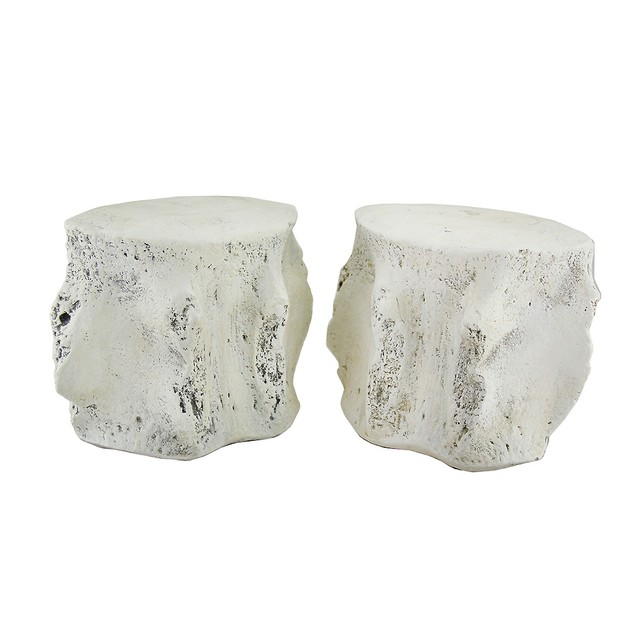 Pair Of Distressed Finish Whale Vertebra Bookends Decorative Bookends