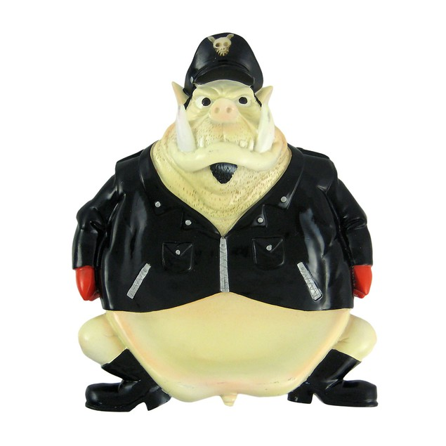Funny Biker Hog Soap Dish/Valet Change Holder Tray Soap Dishes