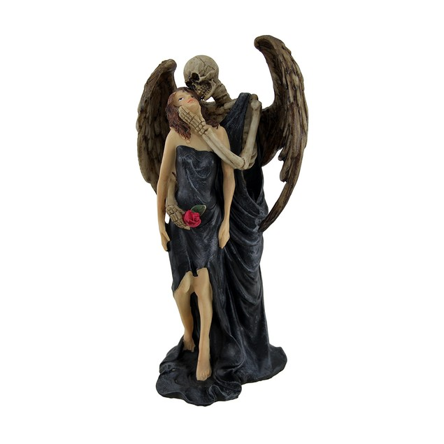 Kiss Of Death Gothic Skeleton Angel Statue Statues