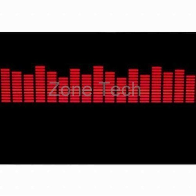 Zone Tech Red Sound Music Beat Car Stickers Equalizer Glow LED Light