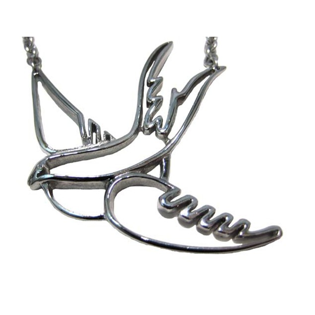 Stainless Steel Sparrow Open Work Necklace Love Womens Pendant Necklaces