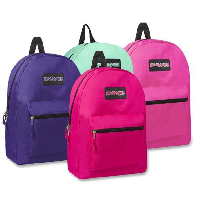 """Trailmaker Classic 17"""" Backpack Assorted Colors Girls and Boys"""