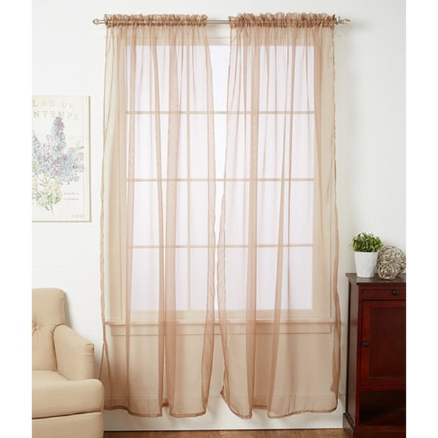 4-Pack Linda Sheer Voile Curtain Panels