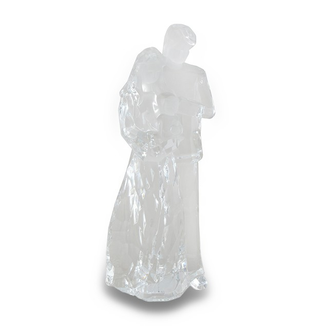 Mom Dad And Child Family Clear Acrylic Statue Statues