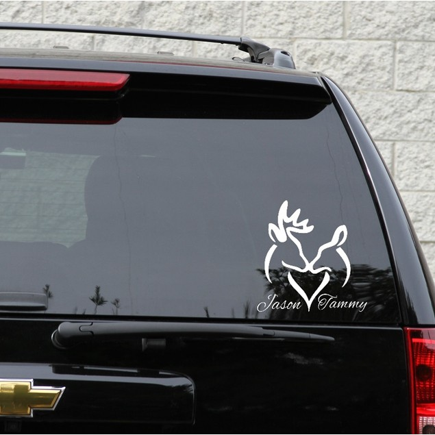 Personalized Deer Couple Decal