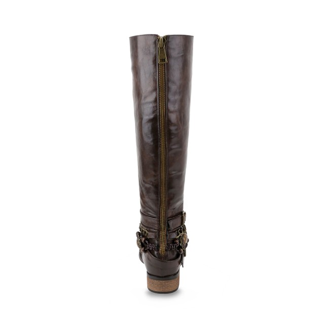 Olivia Miller 'Southaven' Multi Beaded Chain Strap Embellished Riding Boots