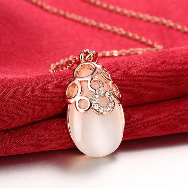 Gold Plated Ceramic Stone Necklace