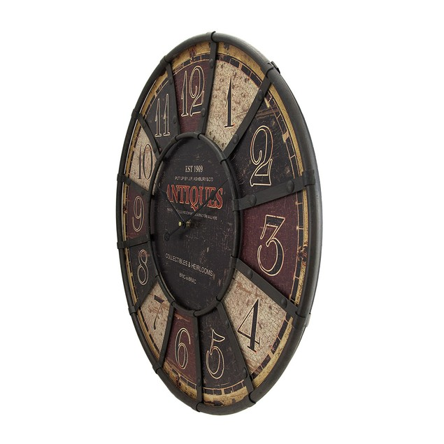 Large Antiques Wall Clock 23 1/2 In. Wall Clocks