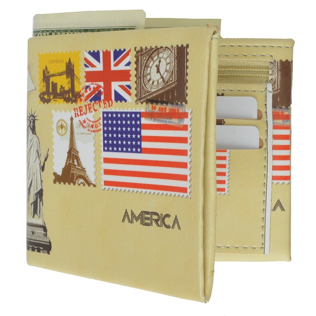 AFONiE Fun Graphics Luxury Billfold Wallet