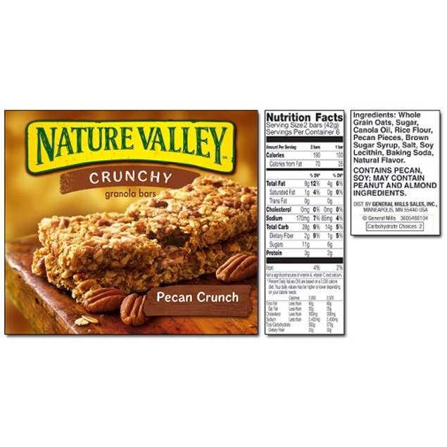 Nature Valley Crunchy Pecan Crunch Granola Bars