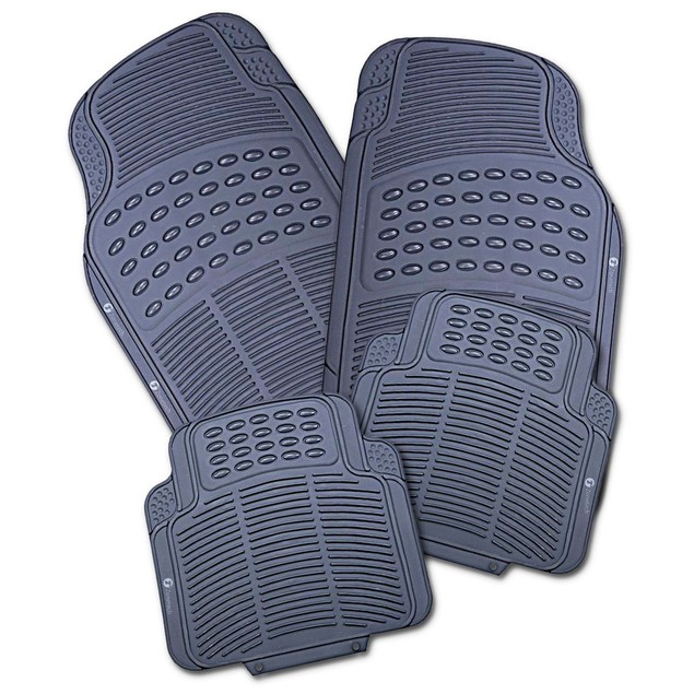 Zone Tech 4 Piece Gray Heavy Duty Car Vehicle Floor Mats