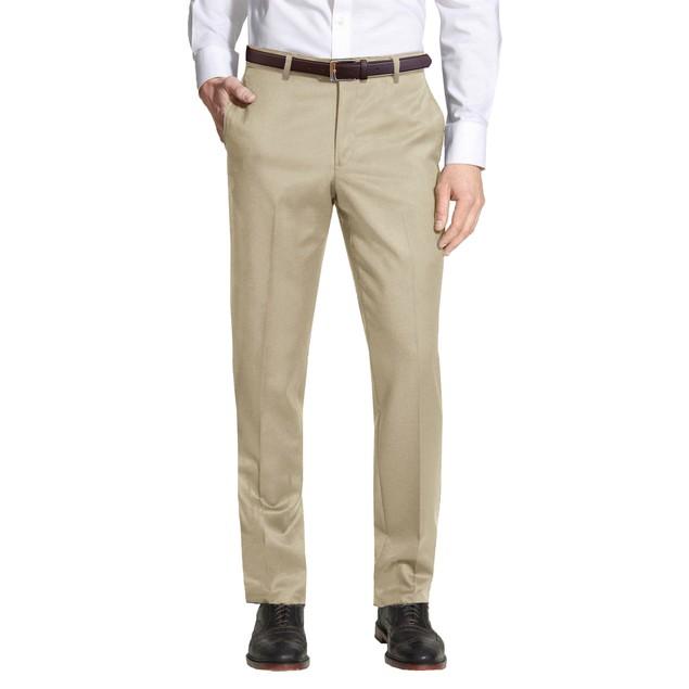Men's Slim-Fit Belted Dress Pants