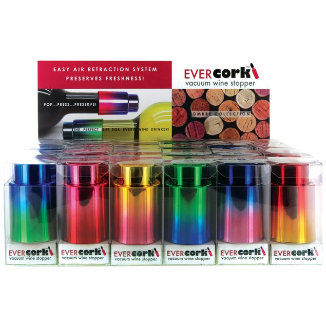 2-Pack EVERcork! Vacuum Wine Stopper