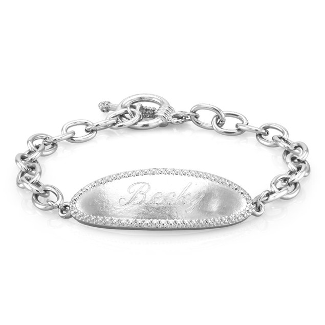 Personalized Sterling Silver ID Bracelet