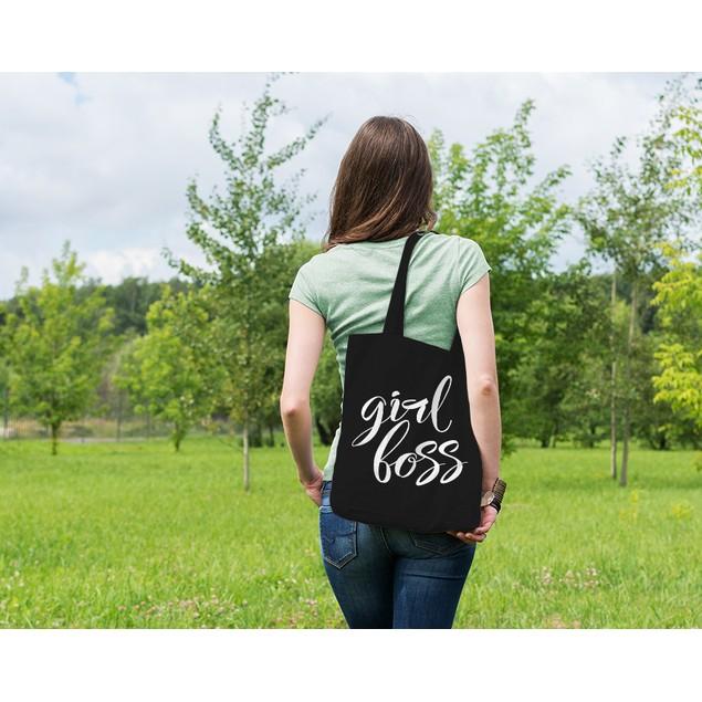 Girl Boss Black Tote Bag