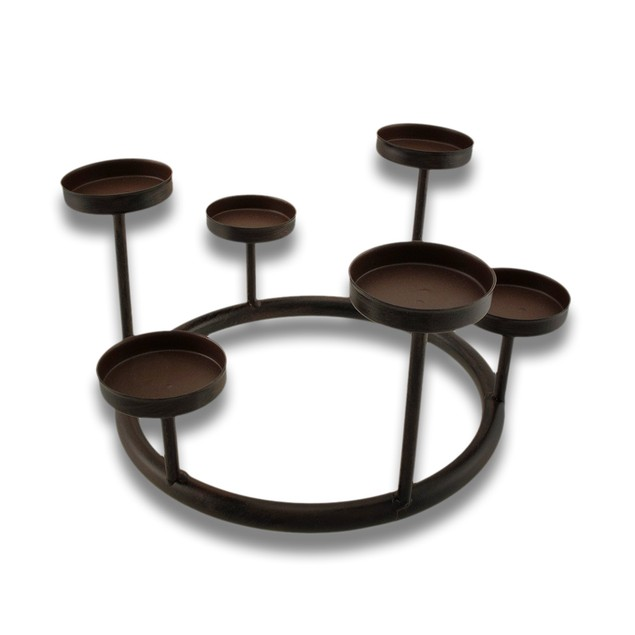 Metal Tea Light Ring Candle Holder Tea Light Holders