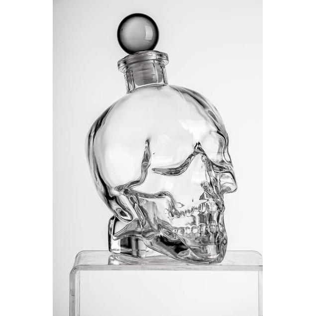 Eravino Large Skull Face Decanter with 4 Skull Shot Glasses