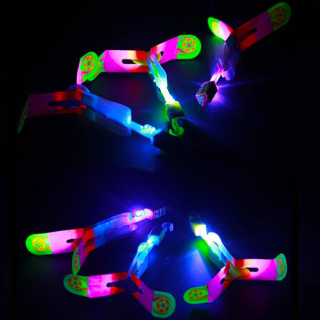 10-Pack LED Helicopter Shooters