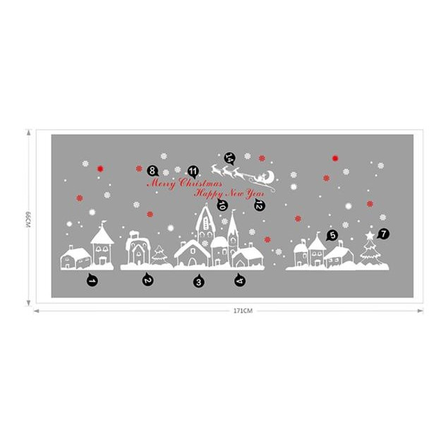 Christmas Snowflakes Town Wall Stickers Decals