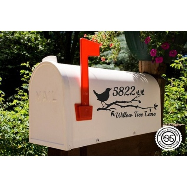 Branching Out Vinyl Mailbox Decal