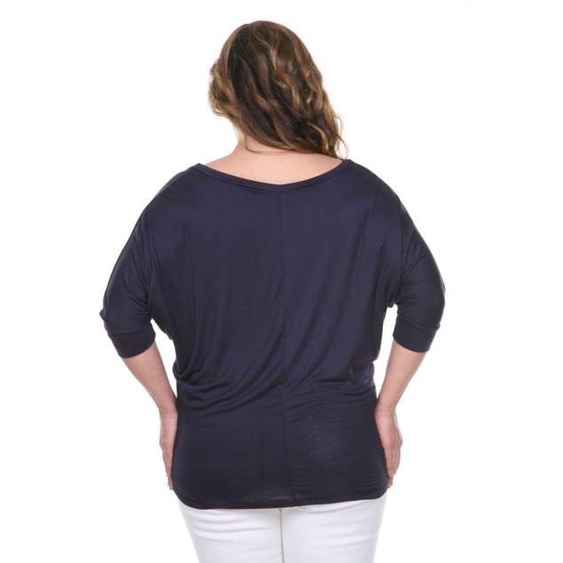 Plus Size Bat Sleeve Top